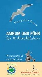 Amrum und Föhr für Rollstuhlfahrer - Nordseetourismus