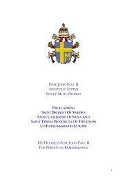 pope john paul ii apostolic letter issued motu proprio proclaiming ...