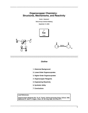 Organocopper Chemistry: Structures ... - The Stoltz Group