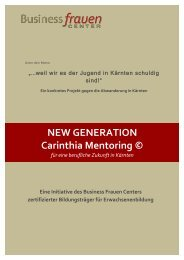 Folder - NEW GENERATION Carinthia Mentoring © 2015-16
