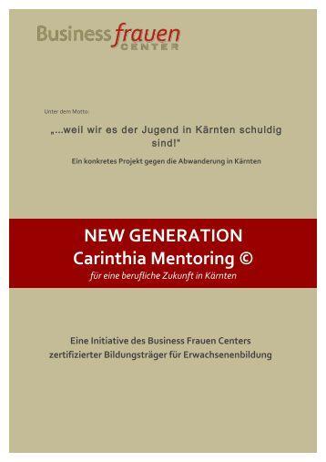 Folder - NEW GENERATION Carinthia Mentoring © 2015-16