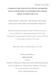 A comparative study of glycerin fatty acid ester and magnesium ...