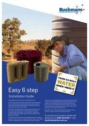 Installation Guide here - Bushman Tanks