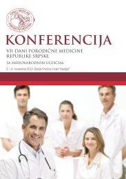 Program konferencije VII Dani porodične medicine RS sa ...