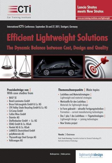 Efficient Lightweight Solutions - IIR Deutschland GmbH
