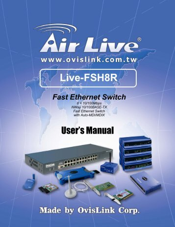 Live-FSH8R Fast Ethernet Switch Product Features