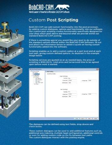 Custom Script Request Form - BobCAD-CAM