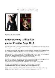 Modeprovo og strikke-ikon gæster Kreative Dage 2012 - Messe C