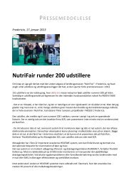 NutriFair runder 200 udstillere - Messe C
