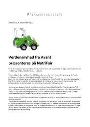 Verdensnyhed fra Avant præsenteres på NutriFair - Messe C
