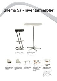 Skema 5a - Inventar/møbler - Messe C