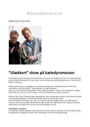 """Ulækkert"""" show på kæledyrsmessen - Messe C"""