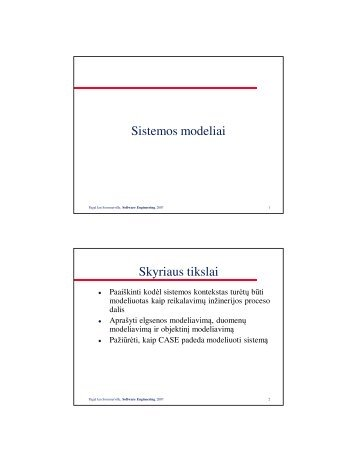 Sistemos modeliai Skyriaus tikslai - techmat.vgtu.lt