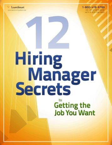 12 hiring manager secrets to getting the job you want learnsmart - Why Have You Applied For This Job