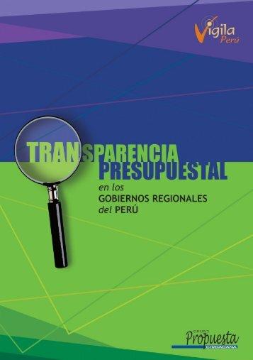 1-100 Transparencia Presupuestal.pmd - Grupo Propuesta Ciudadana