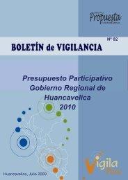 Presupuesto Participativo 2009 y 2010 Región Huancavelica