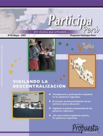 Participa Perú # 39 - Grupo Propuesta Ciudadana