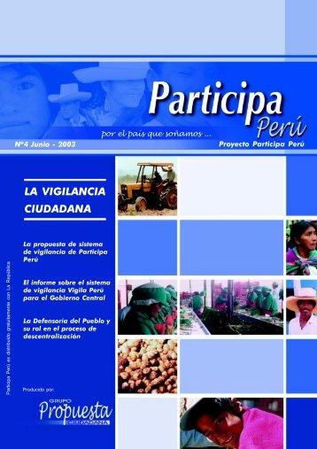 Participa Perú # 04 - Grupo Propuesta Ciudadana