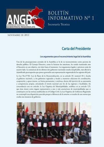 ANGR Boletín Informativo Nº 1 - Grupo Propuesta Ciudadana