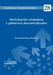 Participación ciudadana y gobiernos descentralizados - Grupo ...