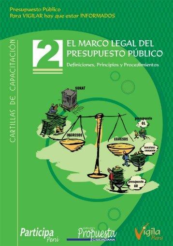 El marco legal del presupuesto público - Grupo Propuesta Ciudadana