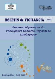 Presupuesto Participativo 2009 y 2010 Región Lambayeque