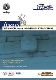 Región Ancash: Balance Anual 2010 - Grupo Propuesta Ciudadana