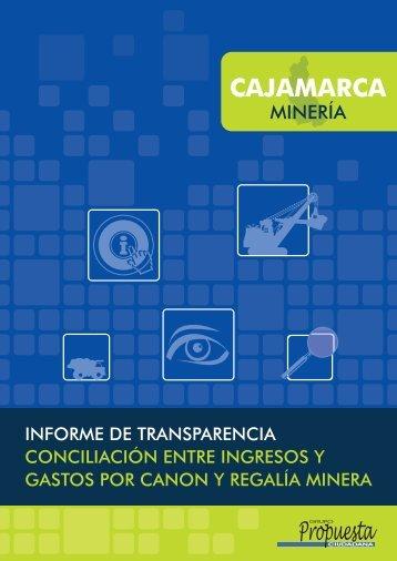 Informe de transparencia. Conciliación entre ingresos y gastos por ...