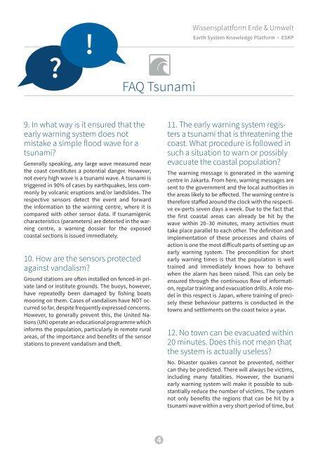 FAQ Tsunami