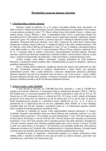 Šlechtitelský program plemene charolais - Český svaz chovatelů ...