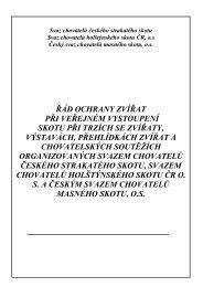 Řád ochrany zvířat - Český svaz chovatelů masného skotu