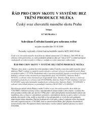 řád pro chov skotu v systému bez tržní - Český svaz chovatelů ...