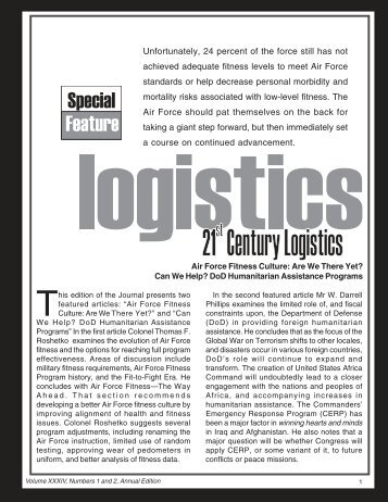 34 No 1 and 2 fitness culture - AF Logistics Management Agency