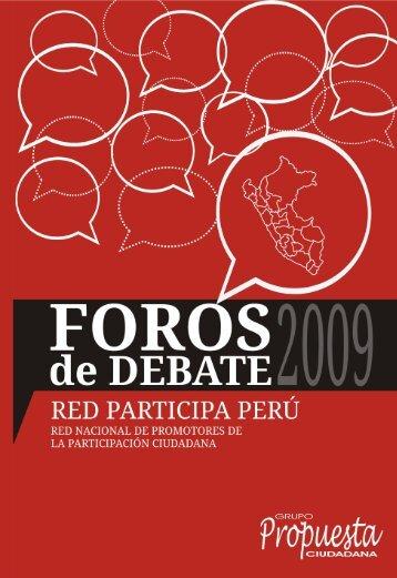 Foros de Debate 2009 - Grupo Propuesta Ciudadana