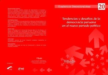 Tendencias y desafíos de la democracia peruana en el nuevo ...