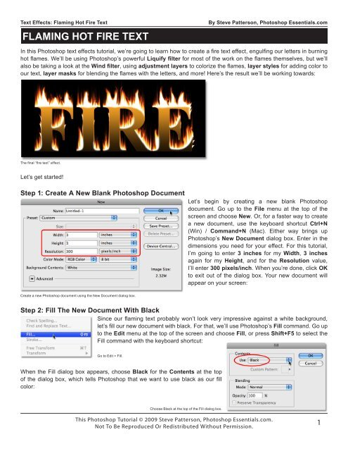 Flaming Hot Fire Text pdf - Advanced Technology Support, Inc