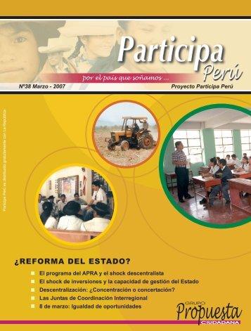 Participa Perú #38 - Grupo Propuesta Ciudadana