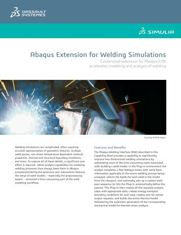 Abaqus Extension for Welding Simulations