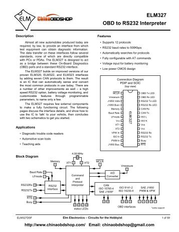 elm323 obd (iso) to rs232 interpreter - lada-welt, Wiring diagram