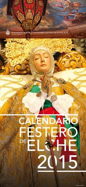 CALENDARIO FESTERO DE ELCHE 2015