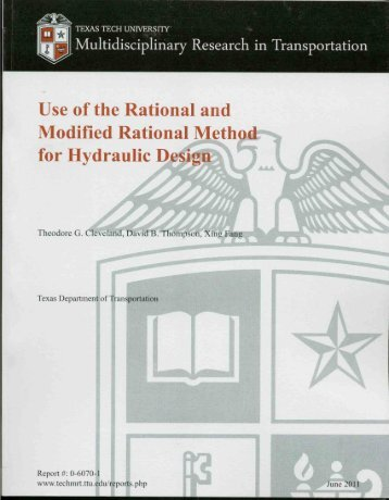 Use of Rational and Modified Rational Method for ... - CTR Library