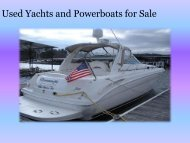 Used Yachts and Powerboats for Sale