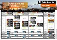 Group Fitness Timetable NOVEMBER - Curtin Stadium