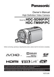 Model No.HDC-SD90P/PC HDC-TM90P/PC - Operating Manuals for ...