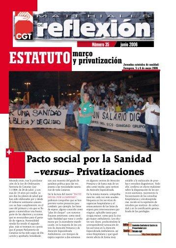 Pacto social por la Sanidad –versus– Privatizaciones - In-formación
