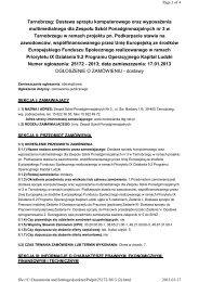ogłoszenie o zamówieniu - budowlanka.tbg.net.pl