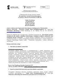 Prowadzenie praktyk zawodowych dla uczniów - Zespół Szkół ...