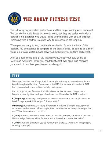 the president s challenge adult fitness test Fitnessgram ® /activitygram ® reference guide and now the president's council on fitness the aahperd physical fitness test.