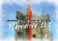 Certamen Literari Ciutat de Vila-real • NARRATIVA 2012