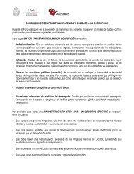 CONCLUSIONES DEL FORO TRANSPARENCIA Y COMBATE A LA ...